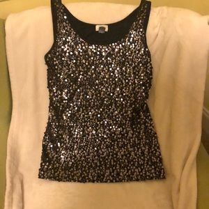 Festive sequined tank size large